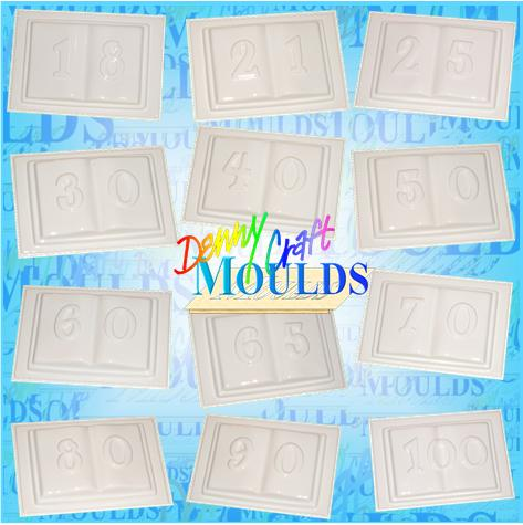 Open Book Plaster Moulds with ages on them!